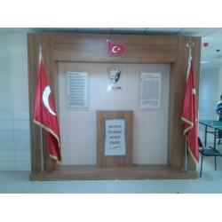 Atatürk Köşesi - Ahşap